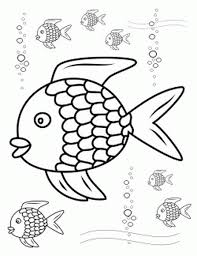 rainbow fish outline coloring