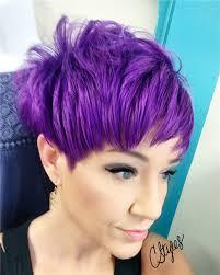 coloring pixie haircut magenta purple on pixie haircut by candice nolan haircut