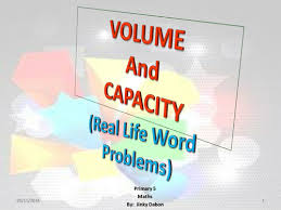 volume of cuboids and capacity word problems by jinkydabon