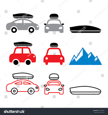 box car clipart car roof box roof rack carrier stock vector 619186694 shutterstock