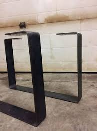 Flat Bar Table Legs Raw Steel Flat Bar Table Legs Diy Metal Table Legs Custom