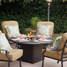 Patio Sets With Fire Pit Mainstays Wentworth 5 Piece Patio Conversation Set With Fire Pit