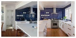 Dark Blue Kitchen White Kitchen With Dark Blue Tiling Video And Photos