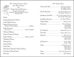 wedding church programs best wedding program templates obfuscata