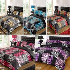 Zebra Print Single Duvet Set Polyester Animal Print Duvet Covers U0026 Bedding Sets Ebay