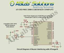 buzzer interfacing with avr atmega16 microcontroller ablab solutions