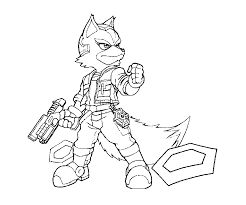 star fox coloring pages funycoloring