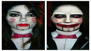 halloween makeup palette jigsaw makeup tutorials saw halloween makeupenpointe youtube