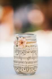 sheet music mason jar centerpieces mod podge rocks