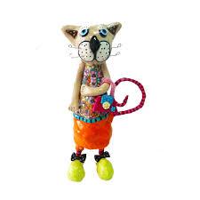 home design gift ideas cat sculpture cat cats sculpture collectible cat cat lover