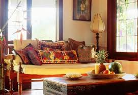 living room eclectic indian living room with rustic furniture