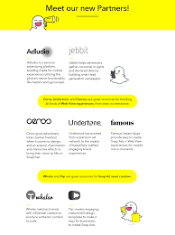 snapchat u0027s new partners attach instant apps and games to ads
