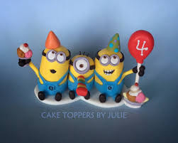 minions cake toppers custom cakes by julie minion cake toppers