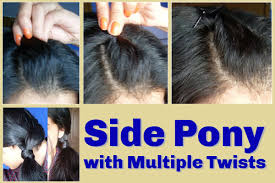 step by step twist hairstyles side pony with multiple twists detailed step by step tutorial