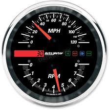 auto meter tachometer speedometer drop in gauge 19466 harley