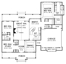 Donald A Gardner Floor Plans by Country Style House Plan 3 Beds 2 00 Baths 1724 Sq Ft Plan 929 577