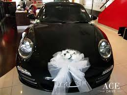 porsche 911 c4s pdk cabriolet wedding car decorations