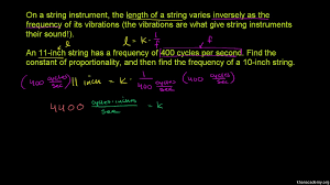 intro to direct u0026 inverse variation video khan academy
