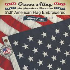 American Flag Picture American Flag 5 8 Embroidered Stars Sewn Stripes U2013 Made In The