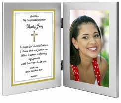 confirmation gifts for sponsor frame gift