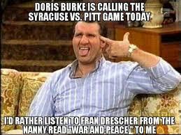 Syracuse Meme - syracuse memes on twitter doris burke gasp getch ur mute