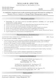 Sample Resume For A Career Change by Change Manager Project Manager Sample Resume Career Diy
