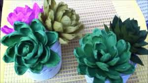 how to make paper flower succulent plant flower 68 youtube