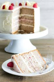 raspberry lemon layer cake white lights on wednesday