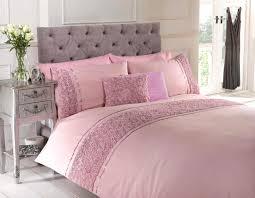 Single Bed Linen Sets Pink Single Duvet Quilt Cover Bed Set Bedding Raised Rose U0026 Ribbon