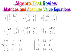 worksheet answers matrix worksheet and matrices review ppt download