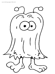 printable monster coloring pages pijama party pinterest