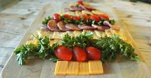 amazing cheese cracker and sausage tree appetizer