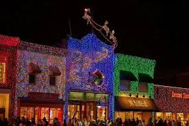 in downtown rochester hills michigan at christmastime the town