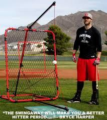 swingaway baseball practice hitting station bryce harper mvp