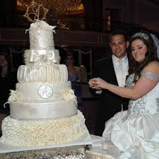 ruffles and draped crystal wedding cake u2022 palermo u0027s custom cakes