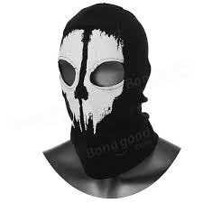 Call Duty Ghosts Halloween Costumes Call Duty Cosplay Black Ghost Skull Motorcycle Ski Face Mask