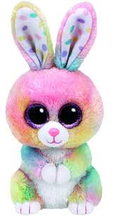 easter bunny ty beanie boos bubby easter multicolor rabbit 6 in