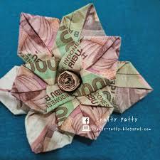 cara membuat origami bunga dari uang kertas crafty patty tutorial mawar dari uang kertas