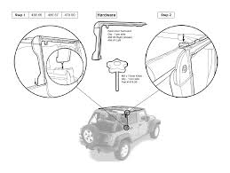4 door jeep drawing how to install a bestop trektop nx on your 2007 2017 jeep wrangler