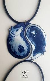 black white yin yang wolf canine spiritual duality pair