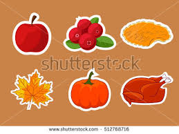 set stickers happy thanksgiving day badge stock vector 512768716