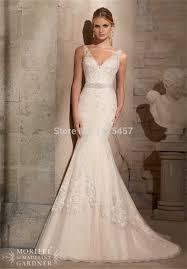 v neck low back wedding dress ivo hoogveld
