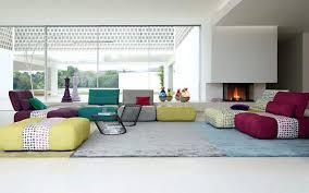 banquette canapé modulable canape d angle multicolore parcours est habillac de tissu attraction