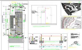villa plan plan view detail dwg file