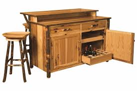 kitchen island set amish hickory home wine bar kitchen island set w stools surrey
