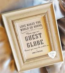 wedding guest book sign guest book guest globe sign alternative guest book sign wedding