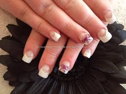 eye candy nails u0026 training full set of acrylic with white tips