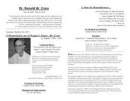 Memorial Programs Video Dr Ron Cross Memorial Service Newsroom