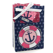nautical party supplies ahoy nautical girl favor boxes custom baby shower and birthday