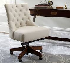 Office Desk And Chair Design Ideas Hayes Tufted Swivel Desk Chair Pottery Barn